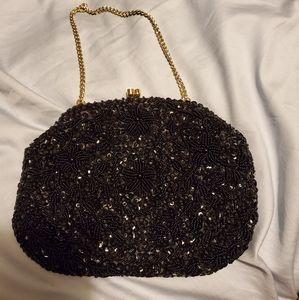 Vintage Richere Beaded Sequin Evening Clutch Bag